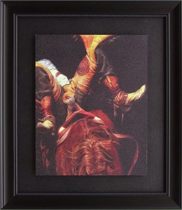 """Karen Kelly Brushstroked Textured Matted and Framed Art Print: """"Wings to Fly"""""""