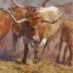 """Ragan Gennusa Hand Signed and Numbered Limited Edition Giclee on Paper and Canvas: """"Tex"""""""