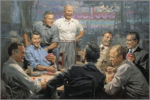 "Andy Thomas Tribute Edition Republican Presidents 30x45 Giclee on Canvas:""Grand Ol' Gang  """