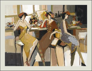 "Isaac Maimon Limited Edition Serigraph:""Society Trio"""