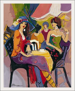 "Isaac Maimon Limited Edition Serigraph:""Afternoon Chat"""