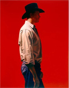 "Gary Ernest Smith Handsigned & Numbered Limited Edition Giclee on Canvas:""Man in Red"""
