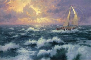 "Thomas Kinkade Signed and Numbered Limited Edition Hand Embellished Canvas: ""Perseverance"""