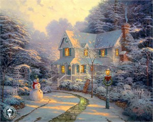 "Thomas Kinkade Signed and Numbered Limited Edition Print and Hand Embellished Canvas :""The Night Before Christmas"""