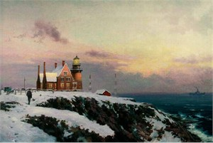 "Thomas Kinkade Signed and Numbered Limited Edition Hand Embellished  Canvas:""Block Island"""