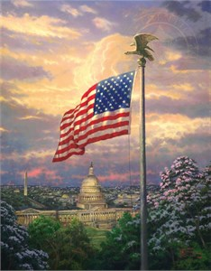 "Thomas Kinkade Signed and Numbered Limited Edition Print:""America's Pride"""