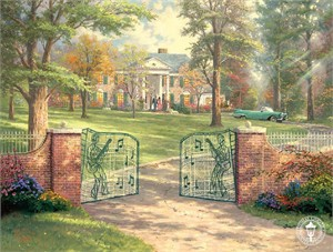 "Thomas Kinkade Signed and Numbered Limited Edition Print and Hand Embellished Canvas :""Graceland�, 50th Anniversary"""