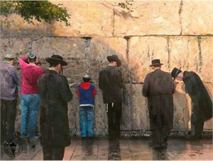 "Thomas Kinkade Signed and Numbered Limited Edition Canvas: ""The Wailing Wall, Jerusalem"""