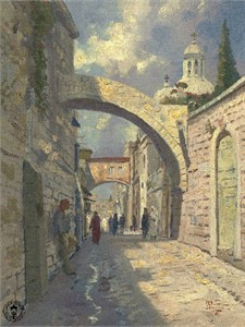 "Thomas Kinkade Signed and Numbered Limited Edition Canvas: ""Via Dolorosa"""