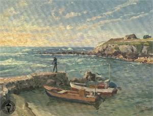 "Thomas Kinkade Signed and Numbered Limited Edition Canvas: ""Caesarea"""