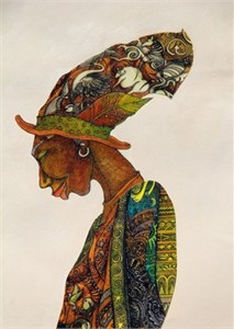 "Charles Bibbs HAnd Signed and Numbered Limited Edition Giclee Print:""The Earth Keeper"""