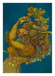 "Charles Bibbs Limited Edition Artist Remarque Giclee Print:""Sea Angel II"""