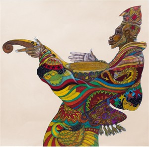 "Charles Bibbs Hand-signed and Numbered Limited Edition Giclee Print:""Music Man"""