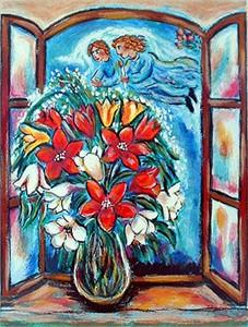 "Alex Meilichson Limited Edition Fine Art Print :""Angel's Blossom"""