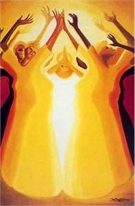 """Bernard Hoyes Fine Art Print:""""Blessings"""""""