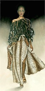 "Consuelo Gamboa Limited Edition Signed Giclee On Canvas Ed. 149:""Catwalk"""