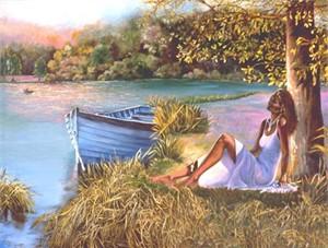 """Consuelo Gamboa Fine Art Print:""""He Loves Me, He Loves Me Not"""""""