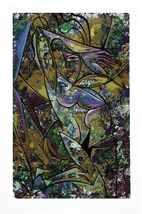 "Anthony Armstrong Limited Edition Signed Serigraph Ed. 350:""Nude with Drapery II"""