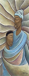 "Nathaniel Barnes Limited Edition Signed Giclee:""Mother and Child"""