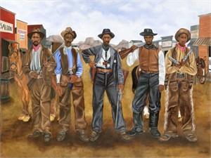"Juda Ward Limited Edition Fine Art Print :""Five Gun Justice"""