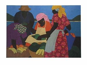 "Gloria Lynn Limited Edition Fine Art Print :""West Indian Market"""