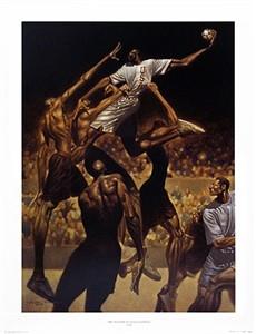 "Kadir Nelson Limited Edition Fine Art Print :""Anatomy of Team Handball"""