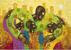 """Larry Poncho Brown Limited Edition Fine Art Print :""""'The Spirit of Fatherhood"""""""