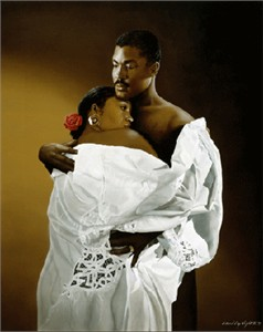"Edward Clay Wright Limited Edition Signed Giclee Ed. 1000:""Embrace"""