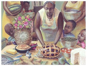 "John Holyfield Limited Edition Fine Art Print :""Mama's Table"""