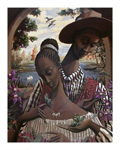 "John Holyfield Handsigned and Numbered Limited Edition :""Soul Mates"""