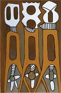 "Ephrem Kouakou Handsigned and Numbered Limited Edition Giclee on canvas:""Untitled V"""