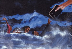 "Juda Ward Limited Edition Fine Art Print :""Save My Soul"""