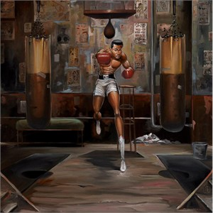 "Frank Morrison Hand Signed and Numbered Limited Edition Canvas Remarque Giclee:""Float Like A Butterfly"""