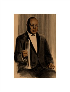 "Clifford Faust Limited Edition Pencil Signed Artist's Proof Giclee:""Joe King Oliver"""