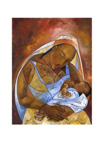 "Michael Escoffery Limited Edition Signed Giclee Ed. 100:""Mother and Child"""