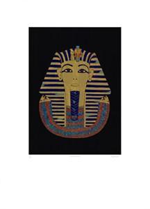 "Tutankhamen Limited Edition Hand Titled & signed foil Ed. 250:""Tutankhamen"""