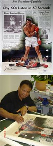 "Doug London Limited Edition Giclee On Canvas Ed. 200 (+20 AP):""Clay KOs Liston in 60 Seconds"""