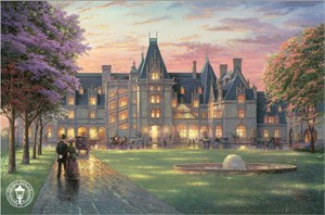 "Thomas Kinkade Signed and Numbered Limited Edition Print and Hand Embellished Canvas:""Elegant Evening at Biltmore"""