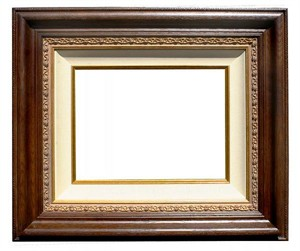 "Thomas Kinakde Museum Quality Empty Ready-Made  Canvas Frame:""Dark Walnut"""