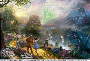 "Thomas Kinkade 75th Anniversary Limited Edition Giclee Print:""Dorothy Discovers the Emerald City - The Wizard of Oz ™Collection l"""