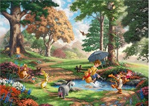 "Thomas Kinakde Disney Limited Edition Giclee Print and Canvas:""Winnie the Pooh I"""
