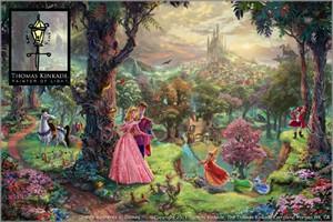 "Thomas Kinkade Disney Dreams Open Edition Framed Canvas:""Sleeping Beauty (Classic Canvas)"""