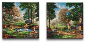"Thomas Kinakde Open Edition Canvas:"" New York City Scenes (Set of 4) - 14 x 14 Wrapped Canvas"""