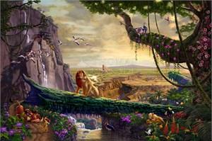 "Thomas Kinakde Framed Inspirational Open Edition Prints:""The Valley of Peace(John 14:27)"""