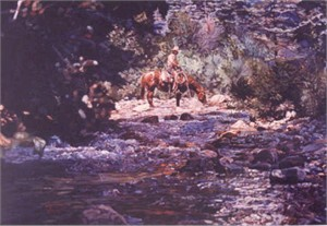 """Edward Aldrich Hand Signed and Numbered Limited Edition Giclee:""""Master of Prowlin'"""""""