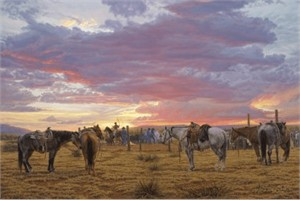 """Tim Cox Hand Signed and Numbered Limited Edition on Paper and Canvas:""""Long Days, Short Pay """""""
