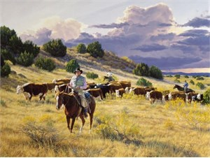 """Tim Cox Limited Edition Giclee on Canvas: """" On To Better Pastures """""""
