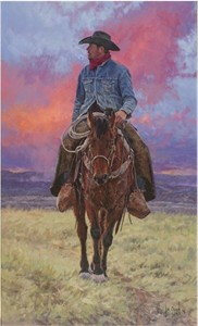 """Bill Owen Hand Numbered Limited Edition Canvas Giclee:""""Clay Rodgers At Tin House"""""""