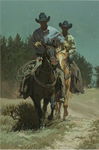 """Bill Owen Hand Numbered Limited Edition Canvas Giclee: """"Long Day"""""""