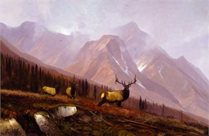 "Michael Coleman Hand Signed & Numbered Limited Edition Giclee on Paper:""Diamond Fork Autumn"""